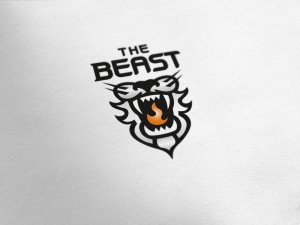 The Beast Fire Grill Logo Design
