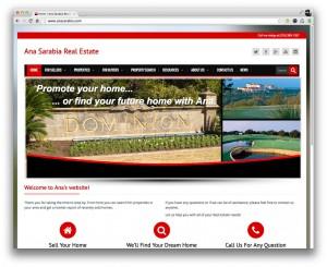 Ana Sarabia Website Design & Development