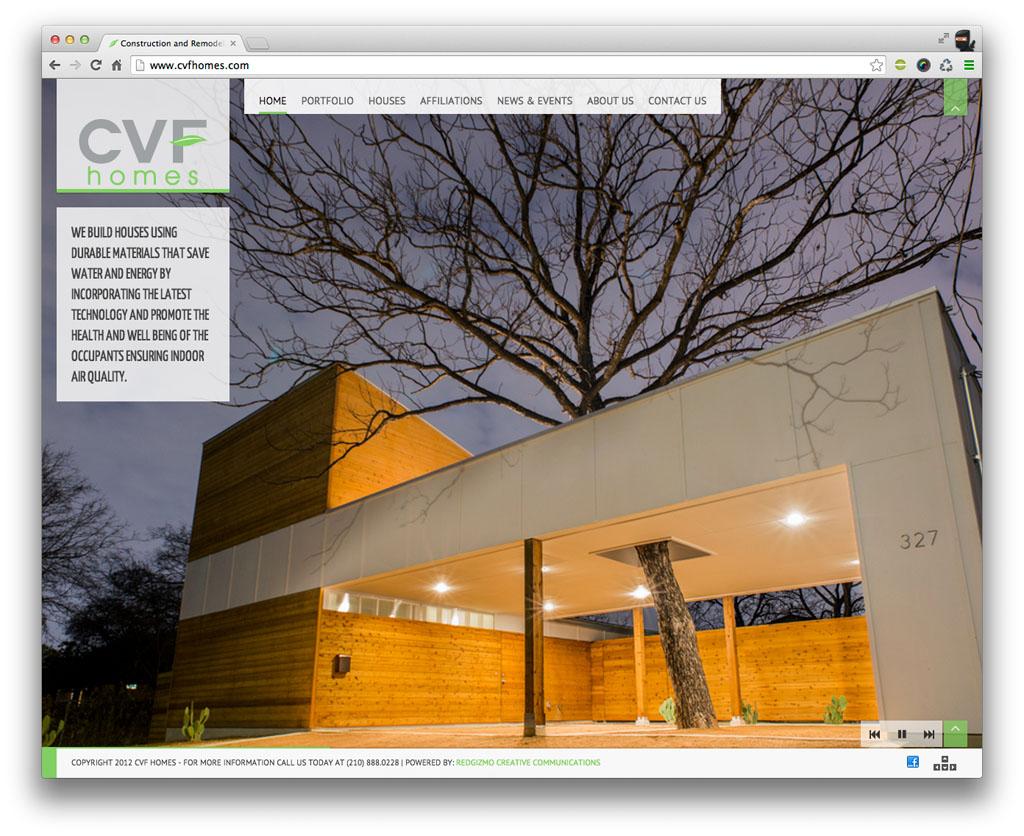 CVF Homes San Antonio Real Estate Website Design