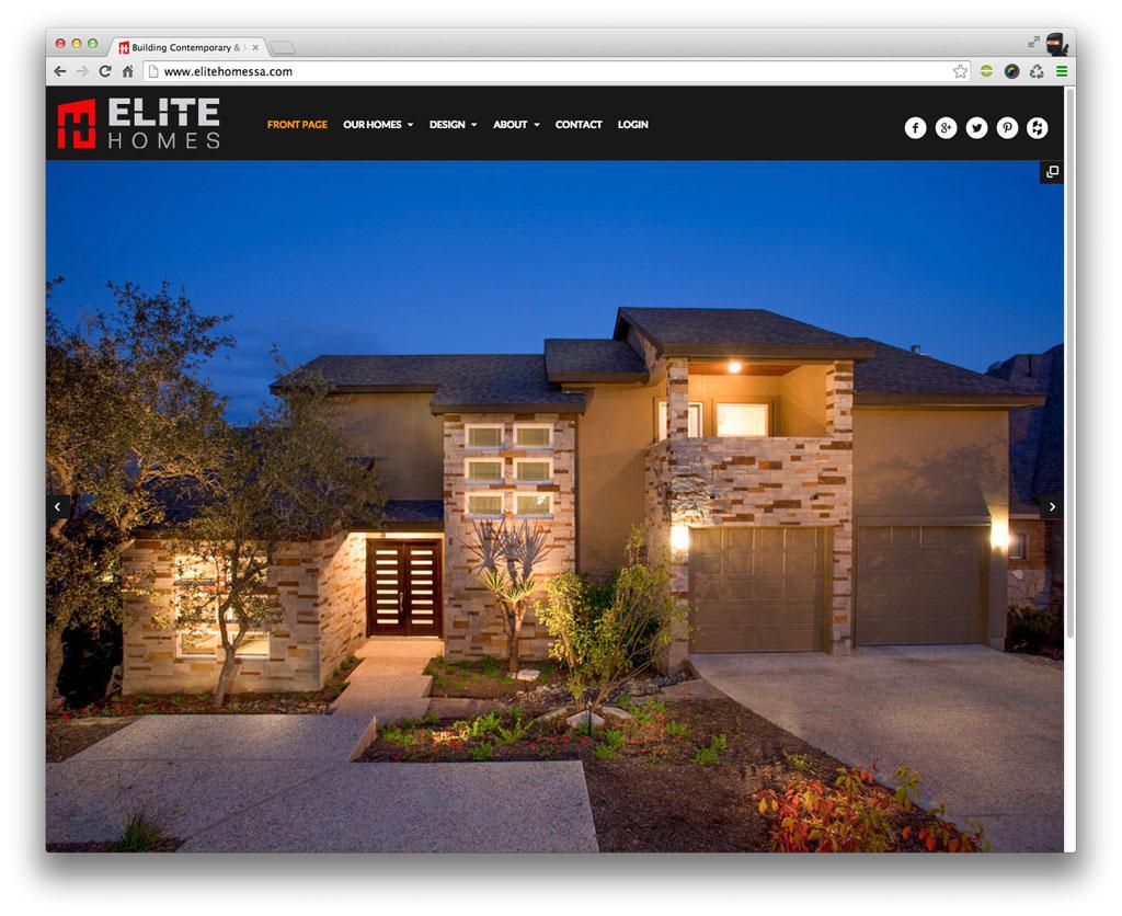 Elite Homes San Antonio Website
