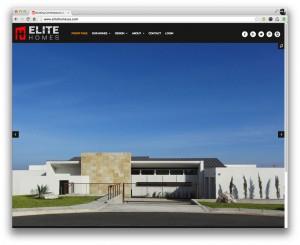 Elite Homes San Antonio Website Home page