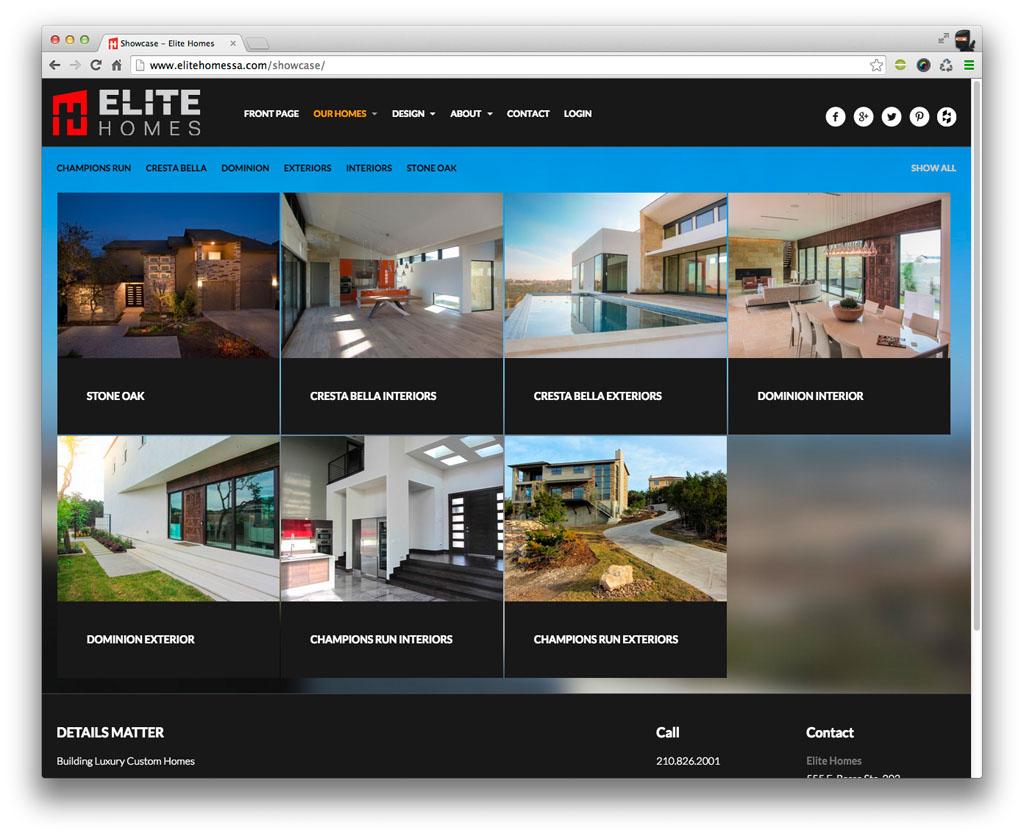 Elite Homes San Antonio Categories