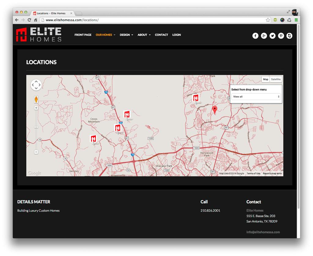 Elite Homes San Antonio Map